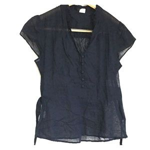J. Crew Sheer Blue Blouse 84160 size 8 Romantic